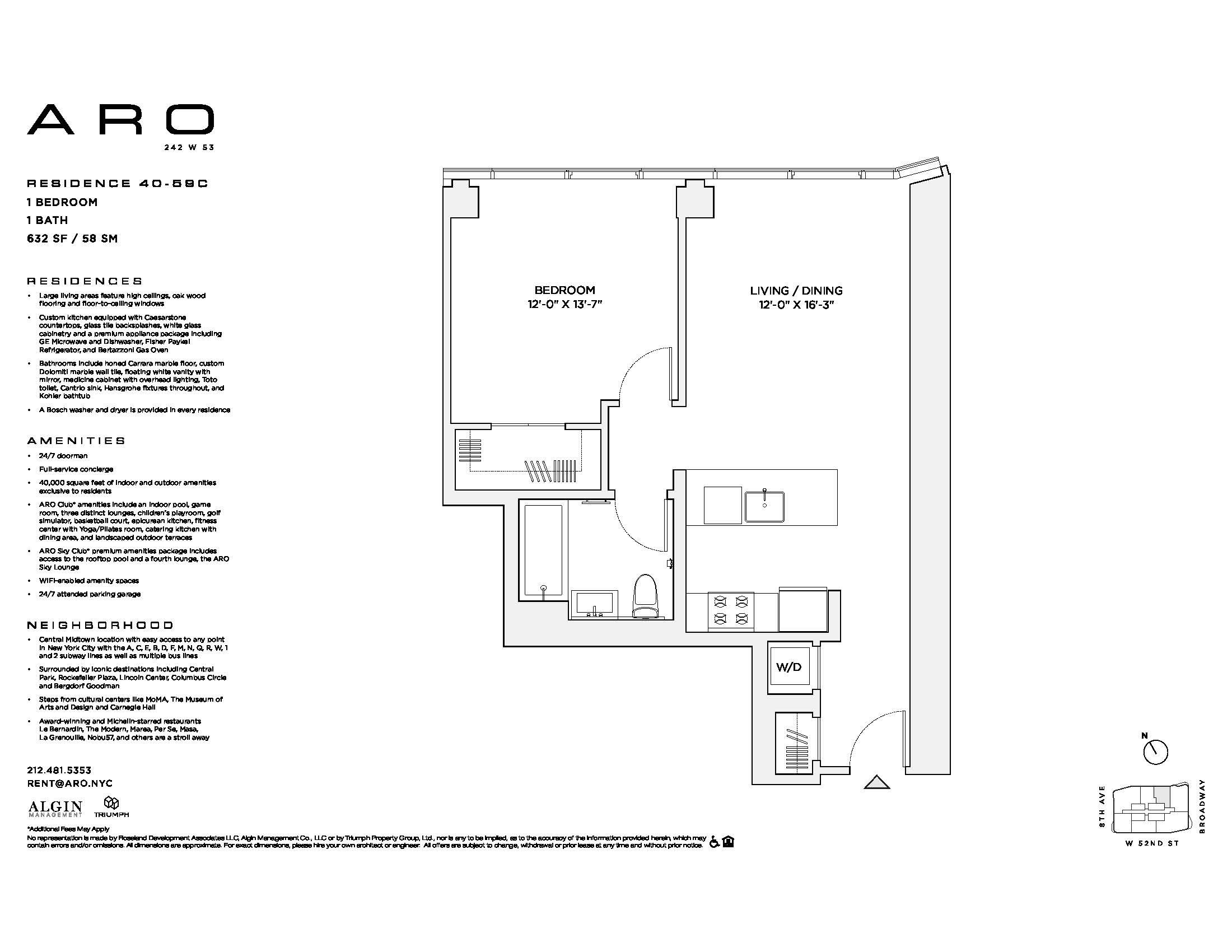 Aro Midtown West Luxury 1 To 3 Bedroom Apartment Rentals Available